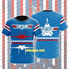 Top Gun Red And White Lines T-shirt
