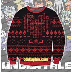 Undertale 3D Print Ugly Christmas Sweatshirt