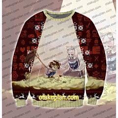 Undertale Frisk Toriel 3D Print Ugly Christmas Sweatshirt