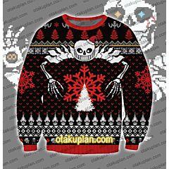 Undertale Massacre ending Sans 3D Print Ugly Christmas Sweatshirt