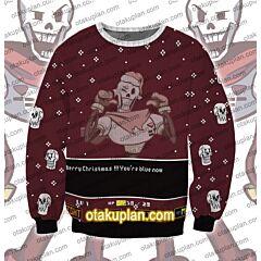 Undertale Papyrus 3D Print Ugly Christmas Sweatshirt
