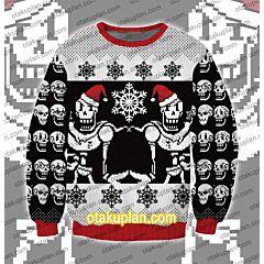 Undertale Papyrus Pixel 3D Print Ugly Christmas Sweatshirt