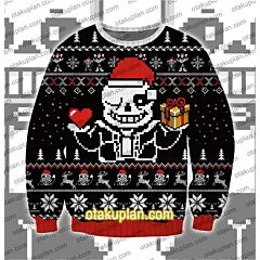 Undertale Sans 3D Print Ugly Christmas Sweatshirt