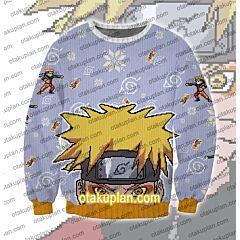 Uzumaki Naruto 3D Print Ugly Christmas Sweatshirt