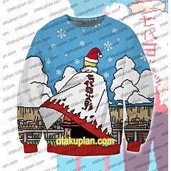 Uzumaki Naruto The seventh generation of Naruto 3D Print Ugly Christmas Sweatshirt